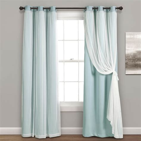 drapes with lining lush decor grommet sheer panels with insulated blackout