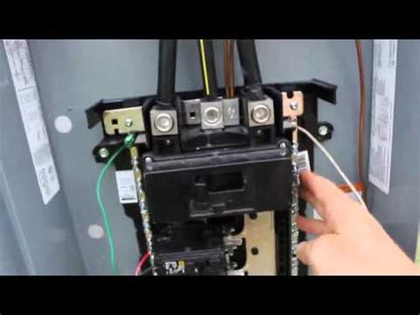 Mobile Home Meter And Breaker Box Wiring by Diy Electrical Service Installation With 200