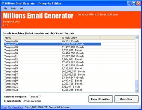 millions emails generator informations generate