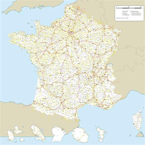 Carte De Avec Villes Principales Et Départements by Carte Des R 233 Seaux Routiers De Haute Definition