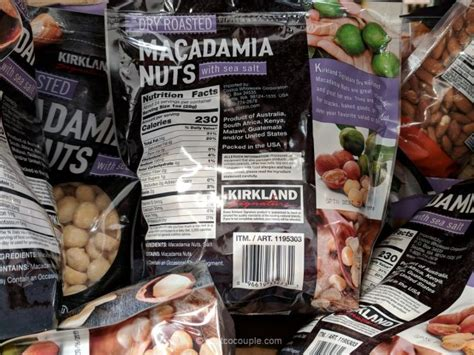 Frozen croissants, breads and baguettes. Kirkland Signature Roasted Macadamia Nuts