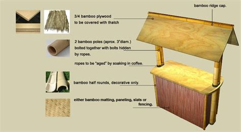 Bamboo Tiki Bar Plans by Diy Tiki Bar Plans Woodworking Projects Plans