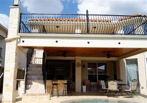 balcony  stairs kitchen texas custom patios