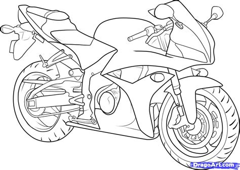 how to draw a motocross bike how to draw a motorbike step by step motorcycles