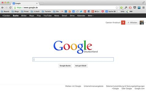 google experimentiert mit der black bar