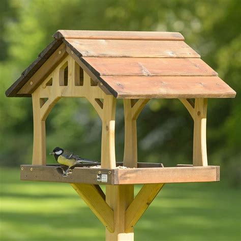 rspb country barn bird table chickadee family rustic