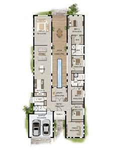 home plan ideas floor plan friday pool in the middle narrow block