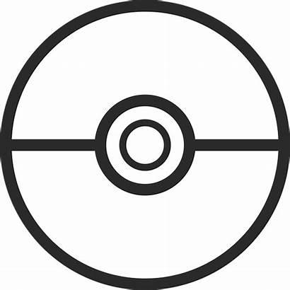Pokemon Pokeball Clipart Template Outline Transparent Vector
