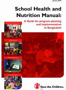 School Health And Nutrition Manual  A Guide For Program