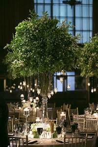 Reception Décor Photos - Lush Greenery & Candle