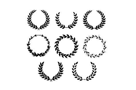 laurel wreath svg  crystalline design design bundles