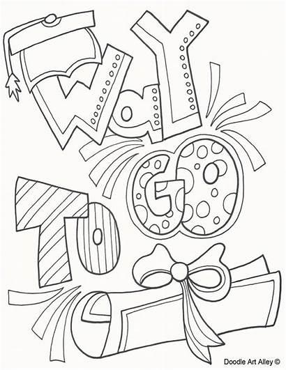 Graduation Coloring Kindergarten Classroom Printables Doodle Pre