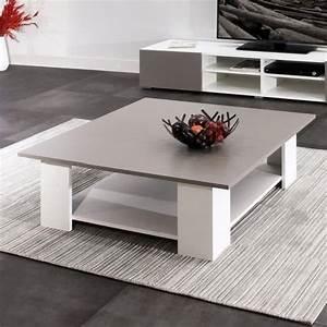 Table Blanche Carrée : table basse blanche carree 5 id es de d coration int rieure french decor ~ Teatrodelosmanantiales.com Idées de Décoration