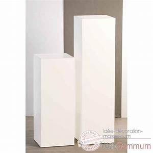 Objet Deco Blanc : colonne en bois blanc brillant 70 cm casablanca design dans objets de d coration ~ Teatrodelosmanantiales.com Idées de Décoration