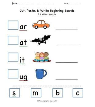 beginning sounds worksheets differentiated 3 | f807f7098685361c14ad824925dcea5b