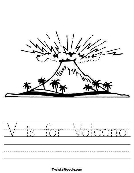 v is for volcano worksheet volcanoes