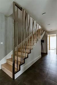 modern duplex apartment with several subtle elements