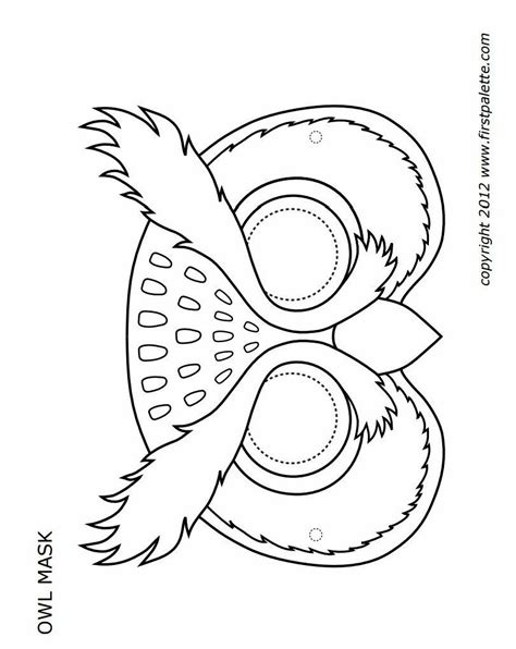 printable owl mask  images owl mask owl coloring