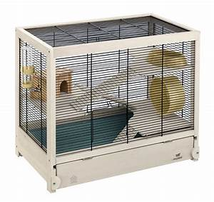 Wooden Hamster Cage - Hamsterville Ferplast