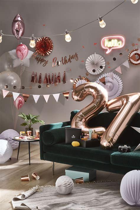 decoration anniversaire  rose ballon chiffre ballon