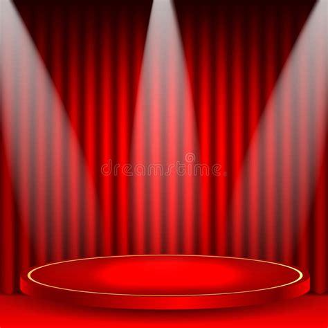 podium drape theatrical background stock vector image of rays