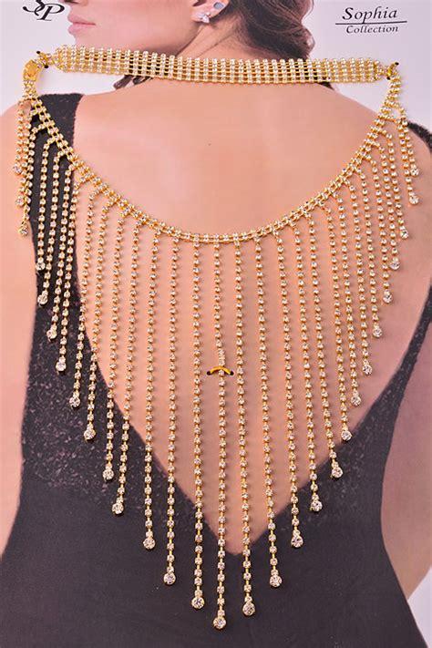 gold rhinestone jewelry set body chain wholesale jewelry