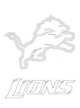 Detroit Lions logo | Detroit lions logo, Sports coloring pages, Detroit lions
