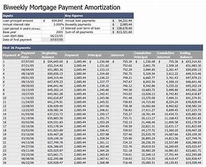 Project Management Schedule Template Biweekly Mortgage Payment Amortization Template