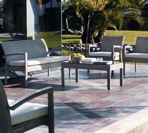 canap de jardin aluminium salon de jardin en résine tressée et aluminium brin d 39 ouest