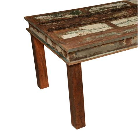 distressed wood dining table appalachian distressed reclaimed wood 96 rustic dining table