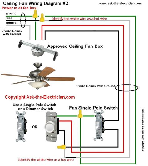 connect ceiling fan to wall switch ceiling fan wiring diagram 2