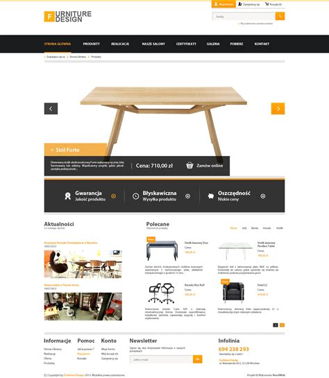 simple website design simple corporate webdesign furniture v1 by kqubekq on