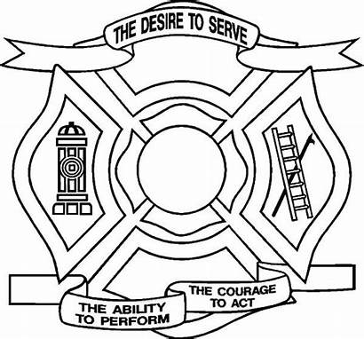 Maltese Cross Fire Department Coloring Pages Desire
