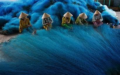 Vietnam Fishing Vietnamese Nets Desktop Wallpapers Mobile