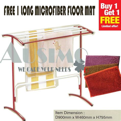3v 6 bars super hanger towel rack stand outdoor clothes rak penyidai baju tuala shopee malaysia