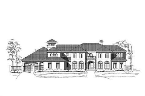 master bedroom interior images mediterranean house plans home design ohp 30206 16092 16092   ELEV LR030206 E L 891 593
