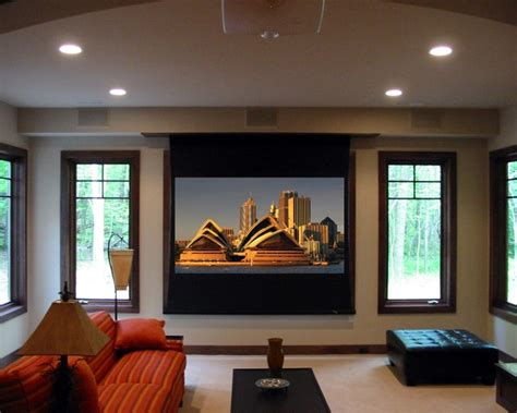 projector contemporary living room grand rapids