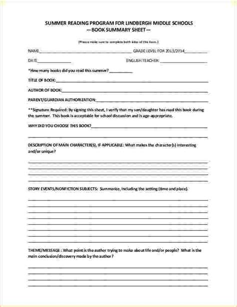 book report template middle school 6 book report templates middle school emmalbell