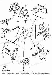Yamaha Motorcycle 1984 Oem Parts Diagram For Electrical