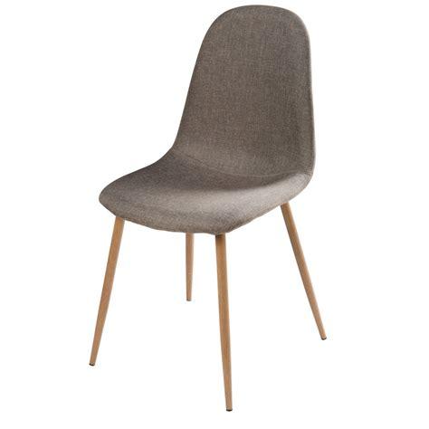 chaise en tissu gris clyde maisons du monde