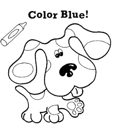 Blues Kleurplaat kleurplaten en zo 187 kleurplaten blues clues