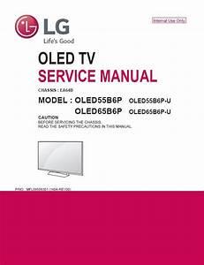 Lg Oled55b6p Oled 4k Hdr Smart Tv Service Manual And