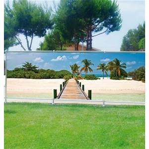 Brise Vue Décoratif : brise vue d co ponton maldives art d co stickers ~ Nature-et-papiers.com Idées de Décoration