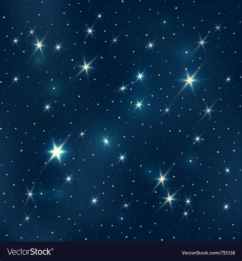 Starry Night Pattern Royalty Free Vector Image