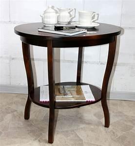 Massivholz Tisch : massivholz tisch beistelltisch teetisch oval 57 holz ~ Pilothousefishingboats.com Haus und Dekorationen