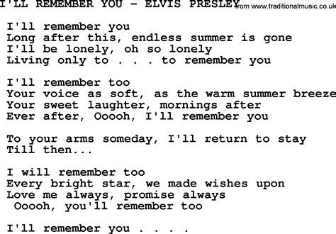I'll Remember Youelvis Presleytxt, By Elvis Presley