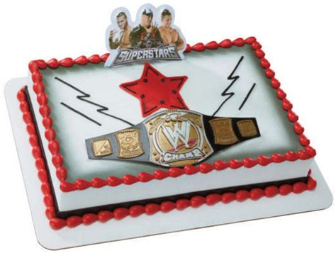 wwe wrestling wrestlers cake kit topper decorations