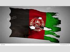 Afghanistan Perforated, Burned, Grunge Waving Flag Stock