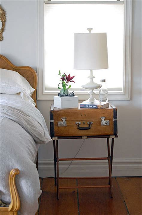 Suitcase Nightstand vintage luggage makeover the of doing stuffthe
