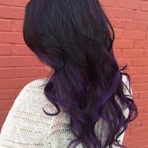 Black Hair With Brown Tips by 50 Purple Ombre Hair Ideas Worth Checking Out Hair